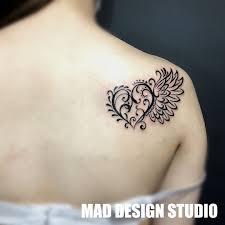 ハートと翼のタトゥー Mad Design Studio