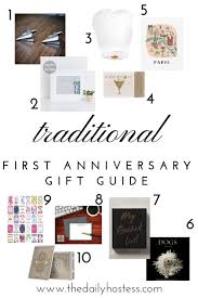 10 first anniversary gift ideas