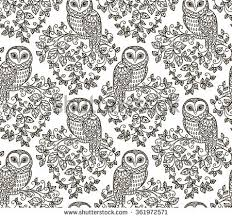 Owl Pattern Delectable Free Owl Pattern Vector Download Free Vector Art Stock Graphics