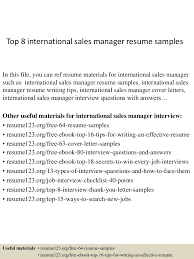 Top8internationalsalesmanagerresumesamples 150410093853 Conversion Gate01 Thumbnail 4 Jpg Cb 1428676781