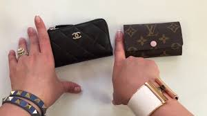 chanel key pouch. chanel o key case and louis vuitton 6 holder / cles comparison - youtube pouch