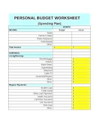 Simple Household Budget Template Word Simple Household