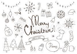 クリスマスかわいい系手書き白イラスト No 607292無料イラストなら
