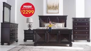 solid mahogany prism queen bedroom set only 2299 bob s furniture
