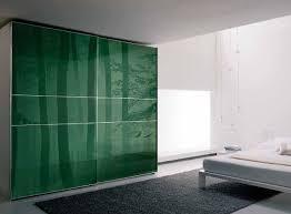 Printed Wardrobe Designs Cool Natural Green Pattern Sliding Glass Door Wardrobe