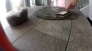 Tiling A Kitchen Countertop Kitchen Island Tile Countertop Youtube
