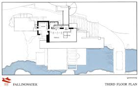 Gallery Of AD Classics Fallingwater House  Frank Lloyd Wright  12Falling Water Floor Plans
