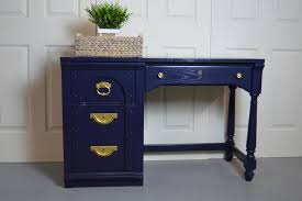 navy blue desk. Modern Blue Desk / Writing Navy By UniquebyRuth Y