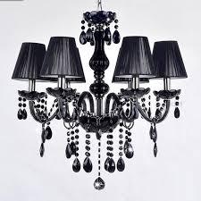 decorative e14 base 18 arms black chandelier led crystal lighting ceiling light