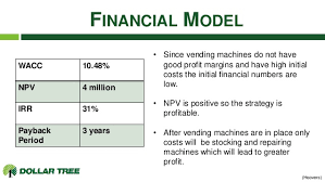 Vending Machine Financial Model Fascinating SMFinalPresentationDollarTree