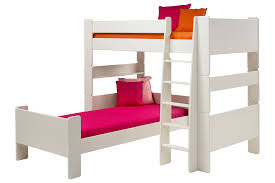 L Shaped Bedroom Solitaire White L Shaped Bunk Bed Kid Room To Grow And White