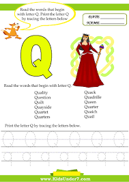 Kids under 7 alphabet worksheetsace and print letter q trace and print  letter q voizrabotkafo Image