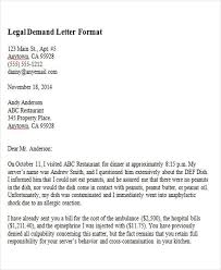 Legal Demand Letter Format
