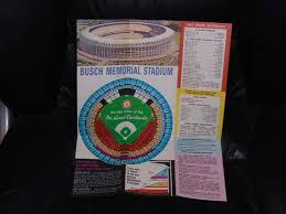 Detailed Seating Chart Busch Stadium 1966 St Louis Cardinals 1st Year New Busch Stadium Baseball