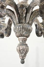italian neoclassical style silver leaf chandelier
