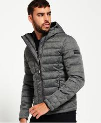 Men's Quilted Jackets | Quilted, Puffer & Padded | Superdry & Double Zip Tweed Fuji Hooded Jacket Adamdwight.com