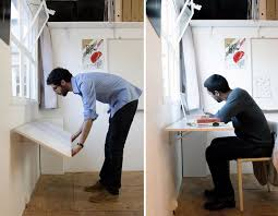 space saving desks space. Collection In Space Saving Desk Ideas With Lovely Folding Table Attached To Wall 1000 Desks
