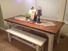 rustic kitchen table ideas with bench