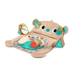 Bright Starts Bear Prop & Play Tummy Time Mat Toys