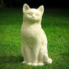 cat garden statue. Sitting Cat - Garden Statue