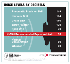 Db Meter Chart Preventing Hearing Loss Noise Infographics Cpwr