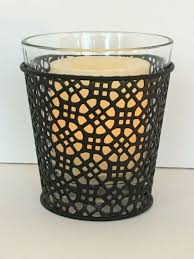 pottery barn moroccan votive candle