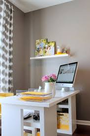 home office ideas neutral. yellow can brighten the most neutral gray dcor home office storagehome designoffice ideas r