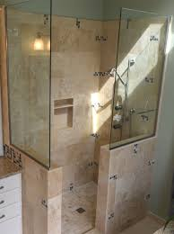 awesome ideas for doorless shower designs doorless shower design neurostis