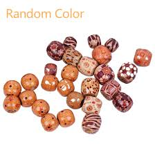 hair beads braiding big hole bead ring s vintage bead wooden for braiding diy hair extension accessories