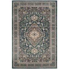 safavieh lyndhurst teal gray 8 ft x 10 ft area rug