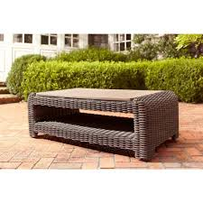 brown jordan norths patio coffee table stock