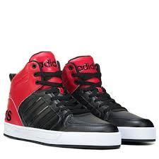 adidas shoes high tops red and black. adidas neo raleigh 9tis men\u0027s high top sneakers black/red/black 548-50875 shoes tops red and black