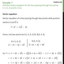 example 7 find vector equation for line 1 0 2