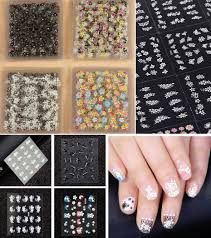 50 Sheets 3D Nail Art Stickers Tips Decal Fashion Flower Tip ...