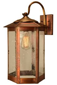 baja mission style wall light with bracket copper lantern picture 5