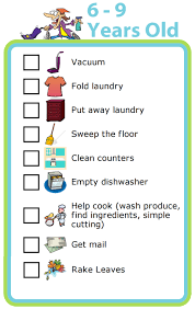 Free Printable Chores For 6 9 Year Olds The Trip Clip