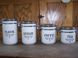 rustic kitchen canister set white