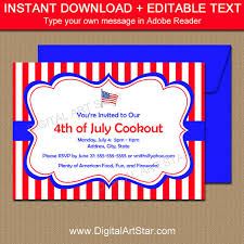patriotic invitations templates printable 4th of july invitation template july 4th cookout invites
