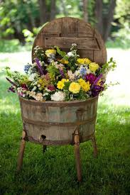 mini barrel flower pot