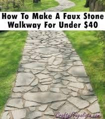 backyard landscaping stone walkway