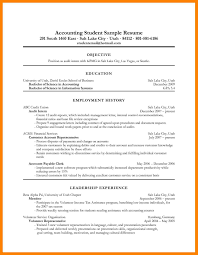 Internship Resume Objective Examples Of Resumes For Account Sevte