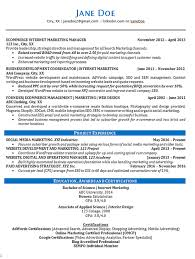 Sample Marketing Resumes Entrancing Online Marketing Resume Example ...