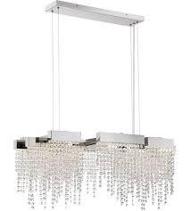 quoizel pccl1033pk platinum crystal falls led 34 inch polished nickel island chandelier ceiling light