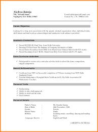... 10 Sample Resume Format For Bcom Freshers Job Resumed Fresher Resume  Format For Bcom ...