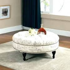 oval leather ottoman. Fine Leather Upholstered Ottomans Coffee Tables Oval Leather Ottoman White  Table Amazing Round Tufted Large  Throughout