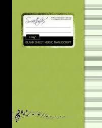 Blank Sheet Of Music Blank Sheet Music Smart Bookx 9781511566957