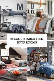 Teen Boy Room Decor 21 Cool Shared Teen Boy Rooms Dccor Ideas Digsdigs