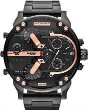"oversized watches large oversize watches watch shop comâ""¢ mens diesel daddy 2 0 chronograph watch dz7312"