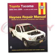 Toyota Tacoma Haynes Repair Manual Base Pre Runner X-Runner Shop ...