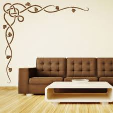 charming home interior decoration with stencil wall arts casual living room decoration using brown stencil